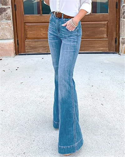 Vintage High Waist Stretchy Bell Bottom Jeans
