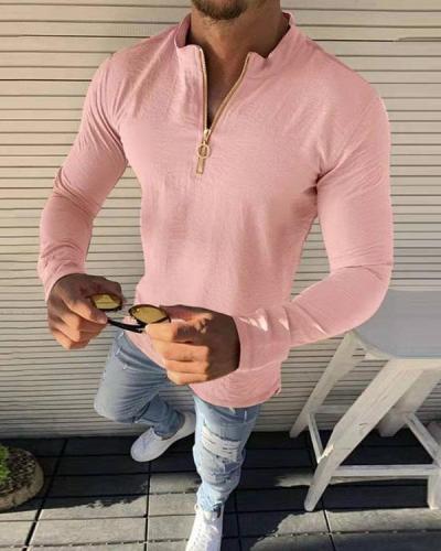 Men's Long Sleeve Basic T-Shirts