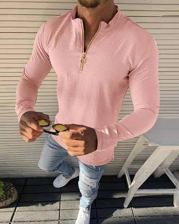 Men's Long Sleeve Basic T-Shirts