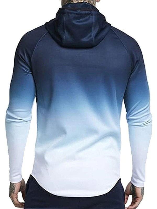 Raglan Sleeve Zip Pockets Drawstring Hoodie