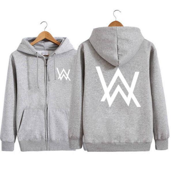 Unisex Hoodie Zip-up Jacket  Sweatshirt with Front Pocket