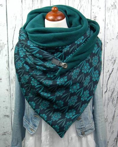 Women Printed Scarf Shawl Multi-purpose Neck Wrap Warm Scarf