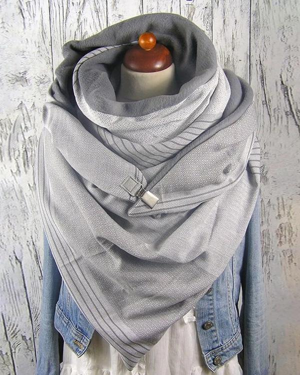 Women Solid Color Scarf Shawl Wrap Multi-purpose Neck Wrap Warm Scarf