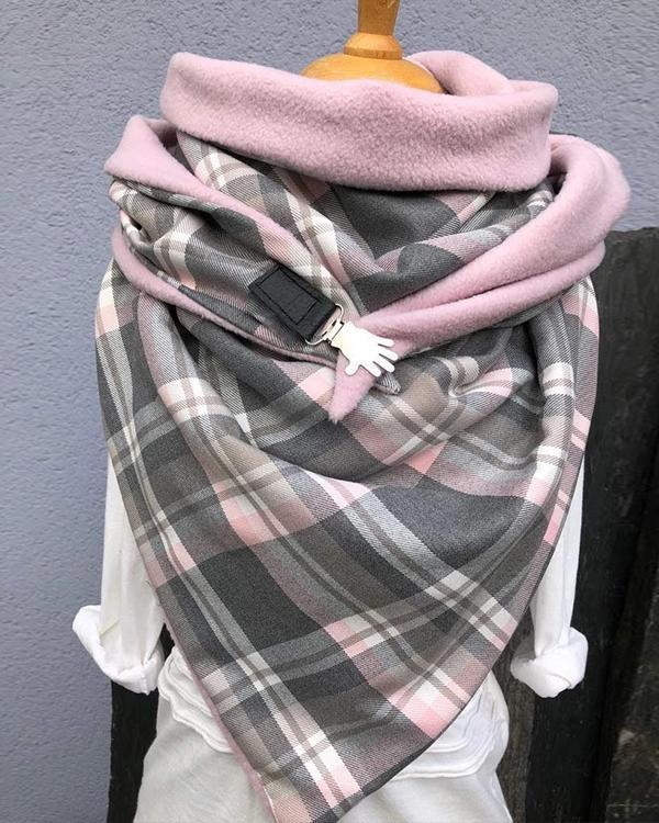 Soft Button Scarf Neck Warmers Triangle Scarf Neck Wraps for Women