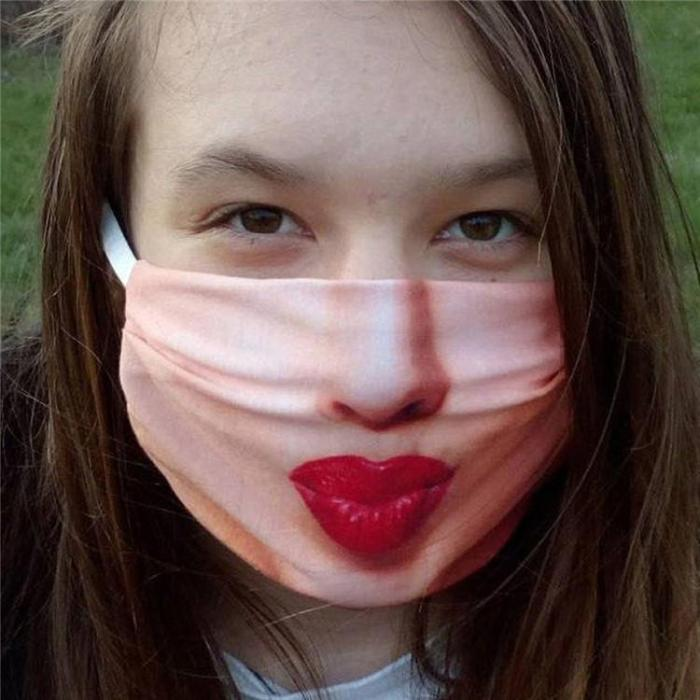Face Emoji Print Breathable Mouth Face Mask Accessories