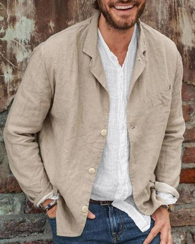 Men's Casual Linen Blazer Jacket
