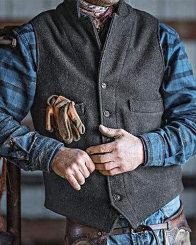Casual Simple Slim Single-Breasted Vest
