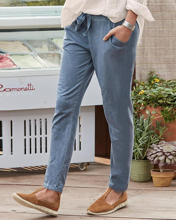 Pocket Design Drawstring Tied Trousers