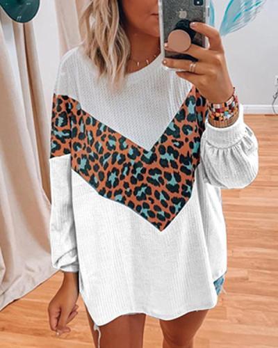 Women Print Casual Daily Long Sleeve Sweater
