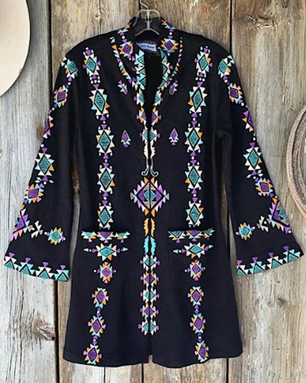 Plain Casual Cotton-Blend Coats & Jackets