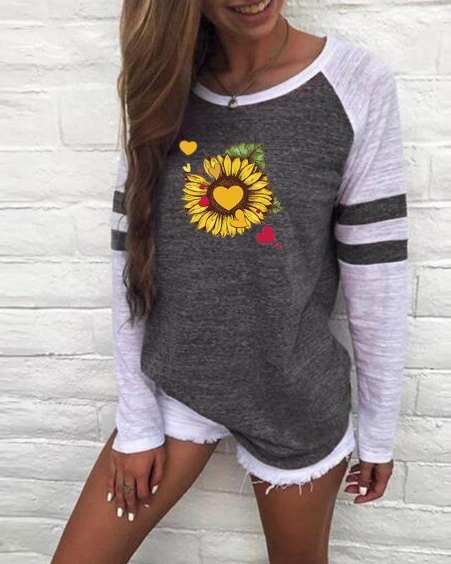 Sunflower Women Fall Round Neck  Casual Shirts & Tops