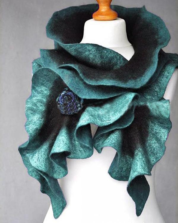 Casual Cotton-Blend Ombre/tie-Dye Scarves & Shawls