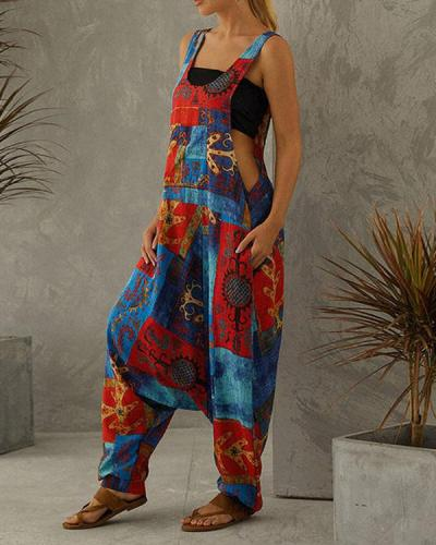 Multicolor Shift Casual Jumpsuit