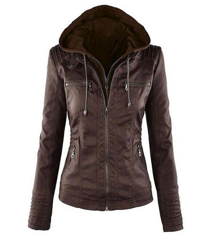 Hoodie Solid Long Sleeve Pockets Zipper Winter Plus Size Jacket Coat