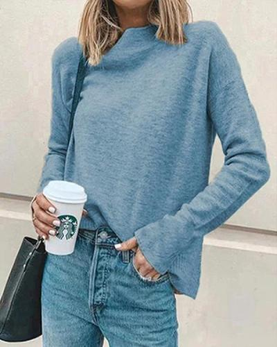 Women Casual Turtleneck Pullover Tops