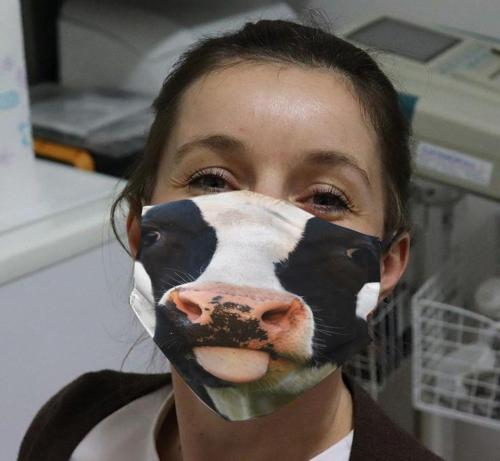 Funny Animal Printed Cotton Accessory Face Mask