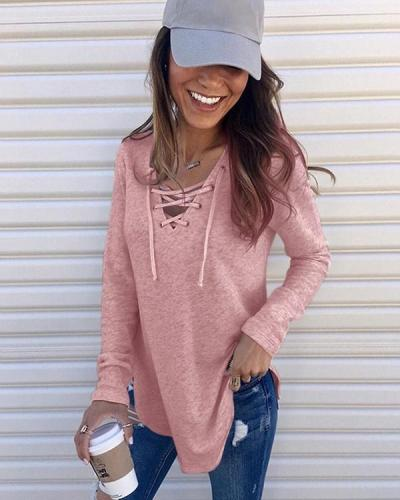 Women's Autumn and Winter Fashion Fashion Pullover Loose Tops
