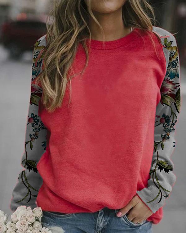 Women Casual Print Long Sleeve Shirts
