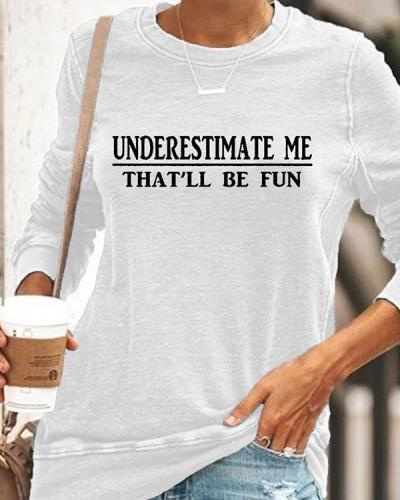 Women Casual Long Sleeve Letter Printed Shirt