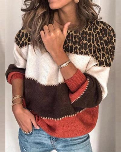 Women's Casual Trendy Leopard Sweaters