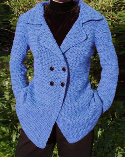 Women's Pure Color Knitted Outerwear