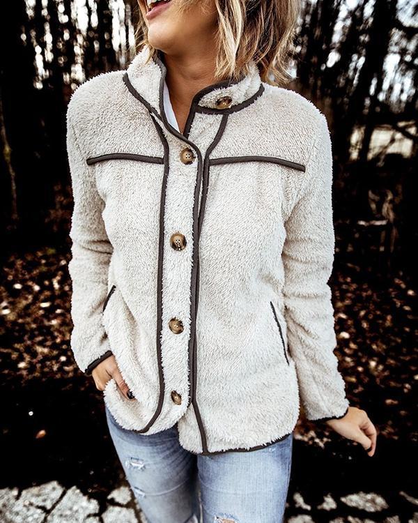 Women Casual Pocket Fur Coats