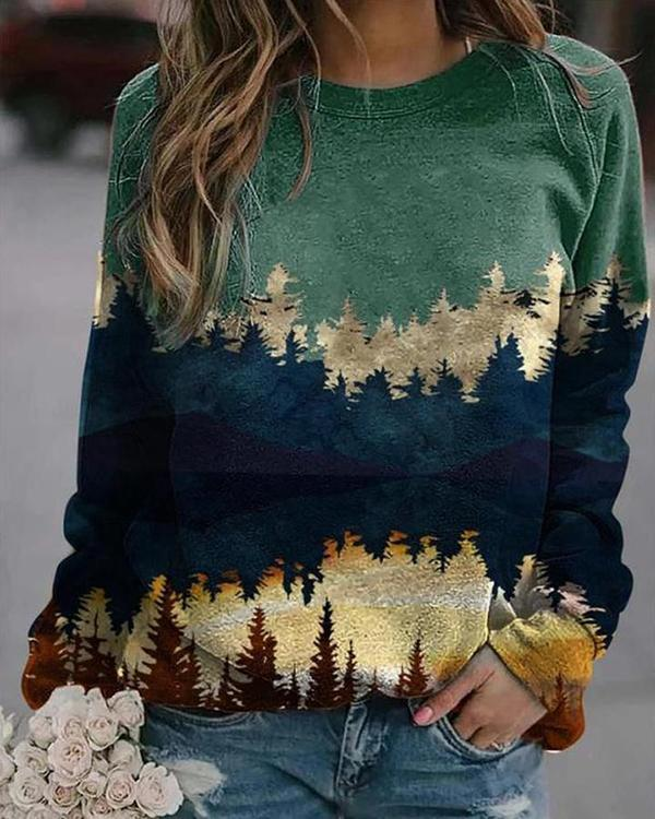 Landscape Print Sweatshirt