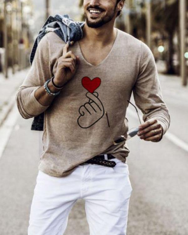 Mens Than Heart Long Sleeve Top