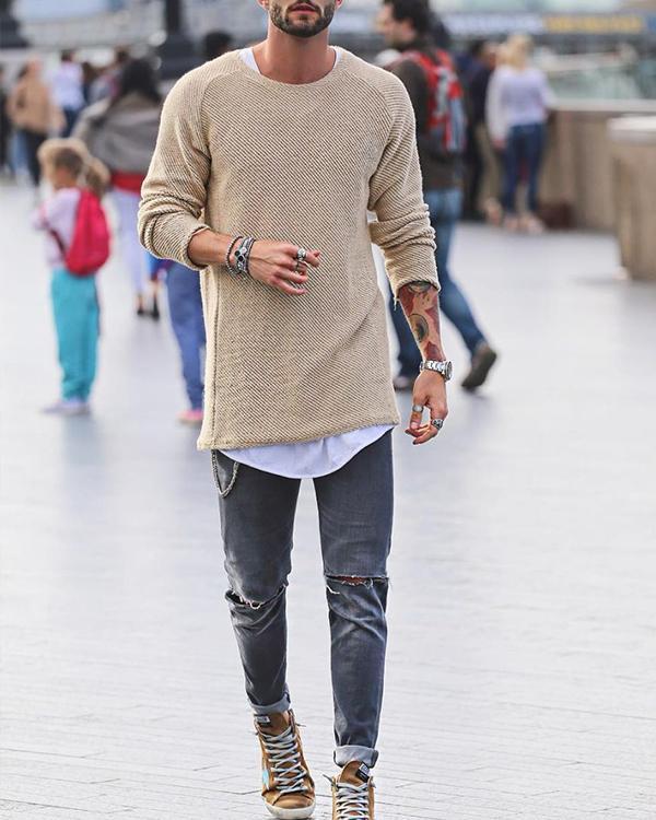 Basic Slim Long Sleeve Sweater