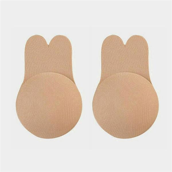 Solid Breast Lifting Adhesive Bra - Flesh
