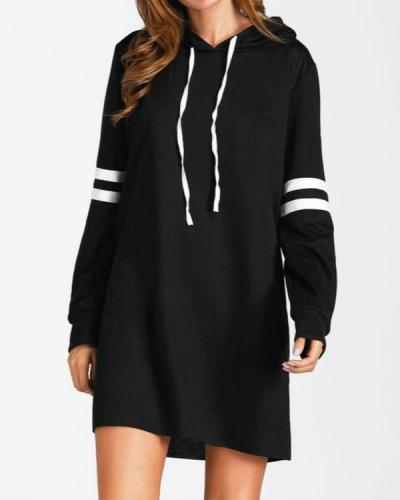 Women Fashion Hot Long Sleeve Long Sweatshirt Pullover Hoodie Dress