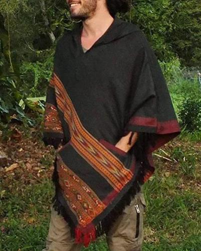 Men's Print Casual Hooded Shirt