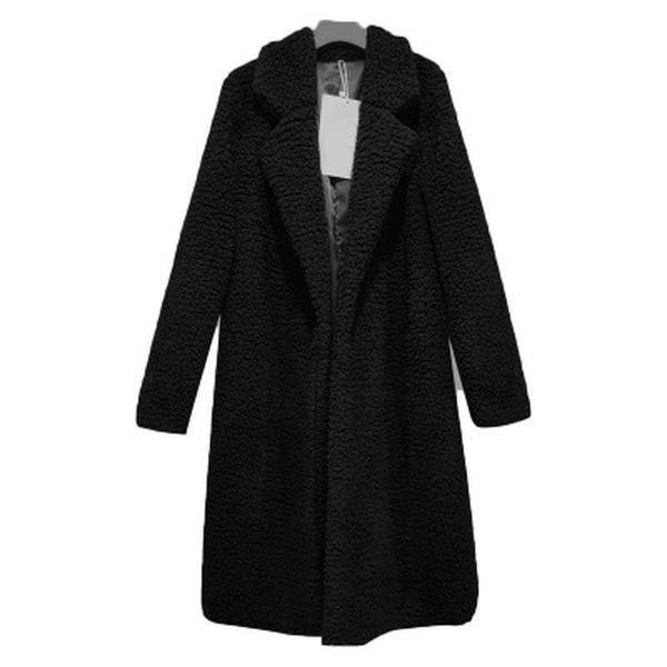 Fashion Lapel Long Sleeve Plain Casual Coats