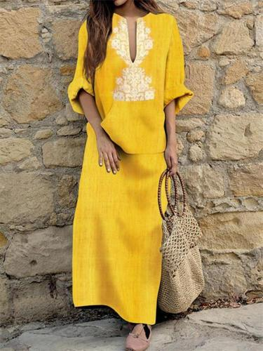 Yellow Women Casual Dress Sheath Daytime Half Sleeve Elegant Dress