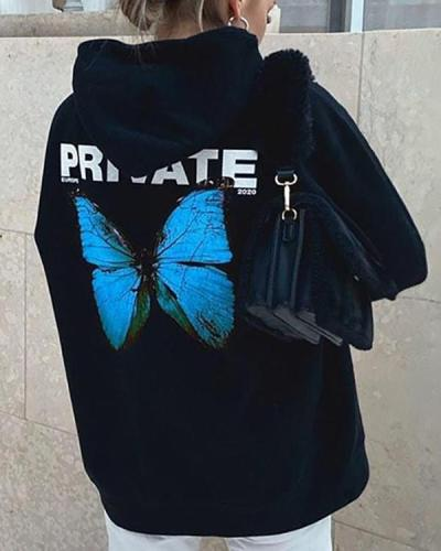 Women's Fashion Hoodie Sweatshirt Back Print Oversize Pullover
