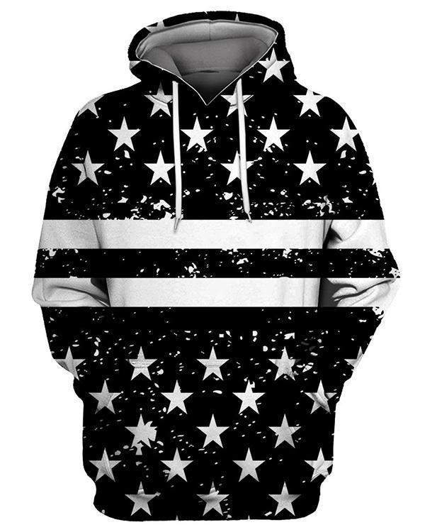 Star Printed Casual Cotton-Blend Sweatshirt