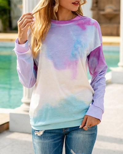 Crew Neck Tie-dye Loose T-shirt