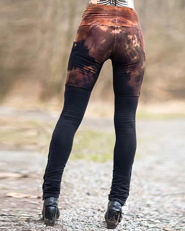 Women's Retro Gradient Pocket Leggings