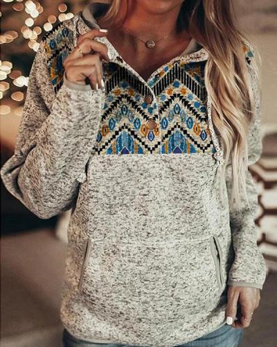 Long Sleeve Casual Sweatshirt