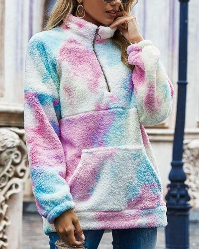 Women Casual Fleece Loose SweatShirt