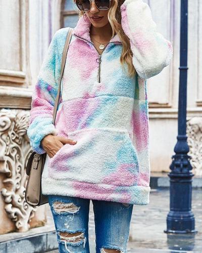 Women Casual Fleece Loose SweatShirt