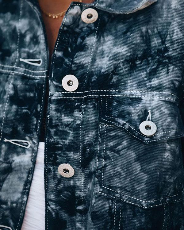 Women Irregular Fringed Denim Jacket