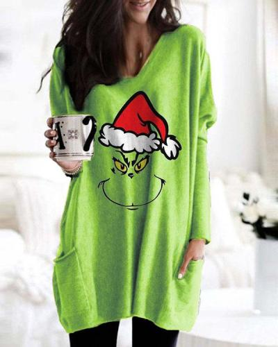 How The Grinch Stole Christmas Print Long Sleeves Shirts