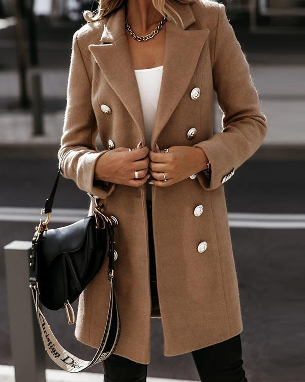 Women's Classic Double breasted Long Coat
