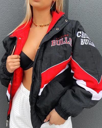 Loose Patchwork Winter Warm Jacket Coat