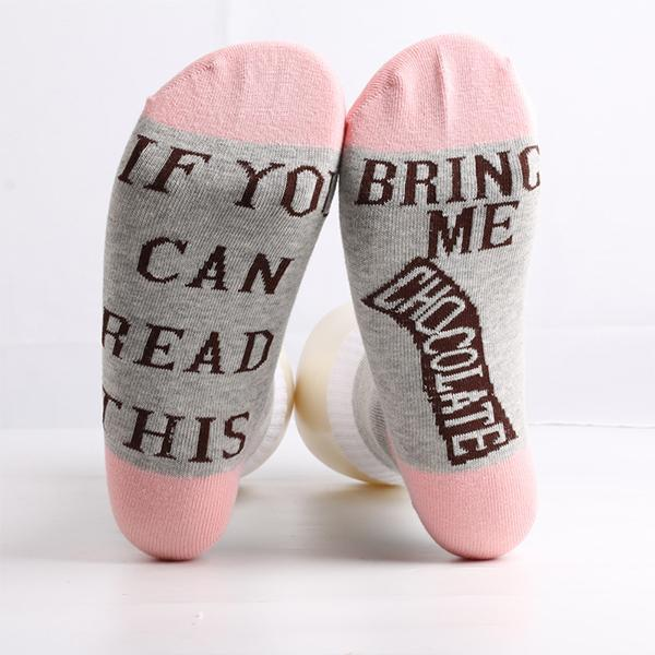 Men Women Letter Print Socks