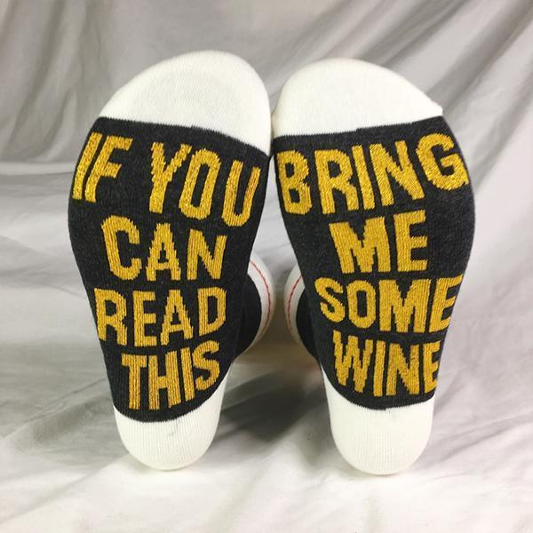 Men Women Letter Print Socks
