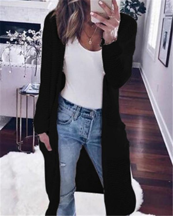 Fall Longs Cardigan Loose Casual Daily Overcoat Sweater
