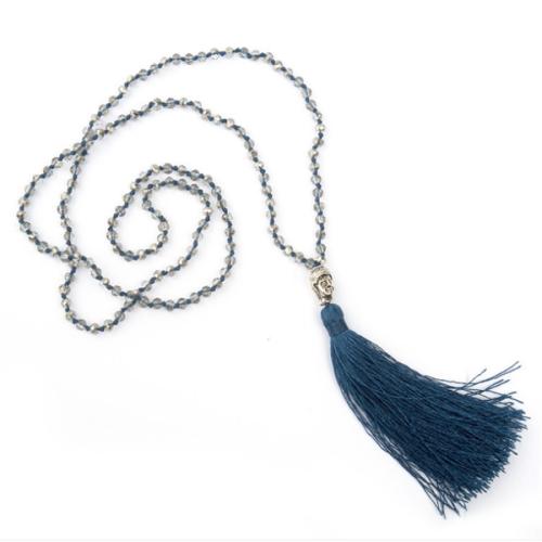 Women Holiday Beaded Fringed All Season Necklace
