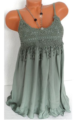 7 Colors Tops Women Lady Sexy Summer Sleeveless Top Blouse Lace Vest Tank Shirt